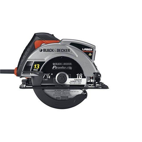 Black & Decker CS1030L 13 Amp 7-1/4-Inch Laser Circular Saw with Soft Grips