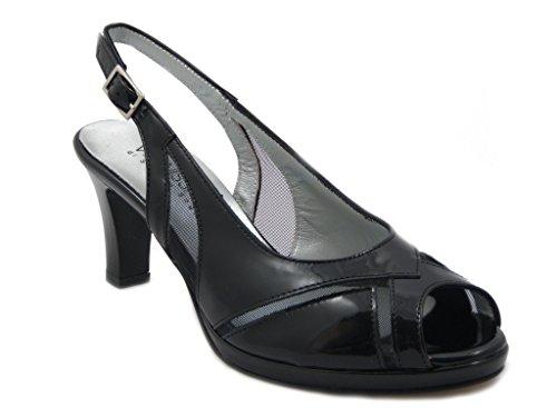 Sandalo elegante Vernissage-Soffice Sogno in pelle lucida, scarpa con tacco 7cm e plateau 1cm.-estivo 6425