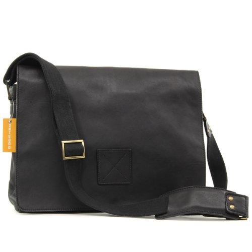 Ashwood Messenger Bag / Laptop Compatible - Pedro - Black
