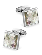 Mother of Pearl Checkerboard Cufflinks