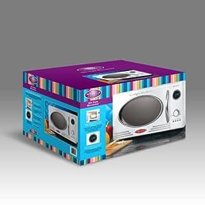 Nostalgia Electrics RMO-400WHT Retro Series .9 CF Microwave Oven, White