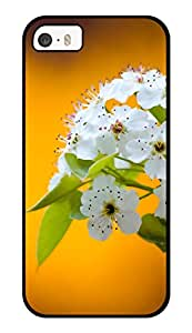 """Humor Gang White Flowers Lily Printed Designer Mobile Back Cover For """"Apple Iphone 5-5s"""" (3D, Glossy, Premium Quality Snap On Case)"""