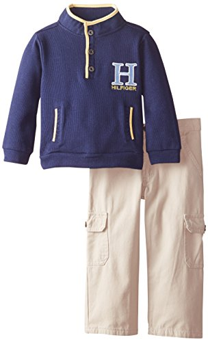 Tommy Hilfiger Little Boys' Pull Over, Blue, 2T