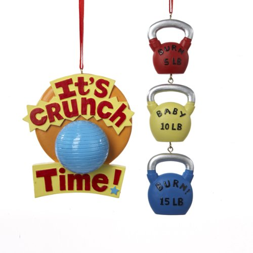 Kurt Adler Resin Exercise Ornament Set OF 2