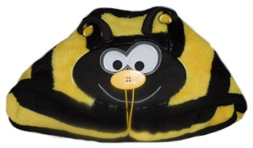 Button Nose Blanket & Towel in Bumble Bee Design
