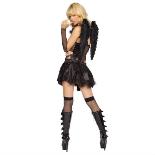3pc Twilight Raven. Includes Top, Skirt & Gloves