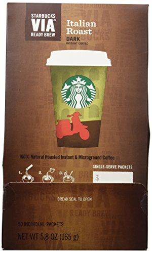 Starbucks VIA® Ready Brew Italian Roast Coffee (50 count) (Starbucks Via Coffee compare prices)