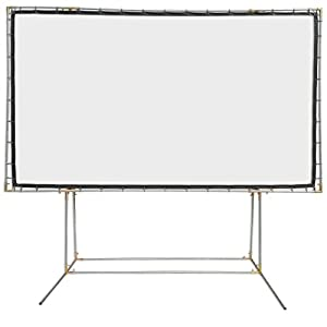 Carl's FlexiWhite , DIY Standing Projection Screen, White, Gain 1.1 (16:9 | 9x16-Ft | 214-in) Supports HD/High-Definition & Active 3D Projection, In/Outdoor, Portable Movie Screen