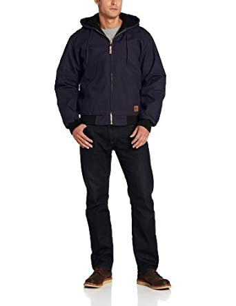 Berne Men's Original Hooded Jacket, Navy, Small/Regular