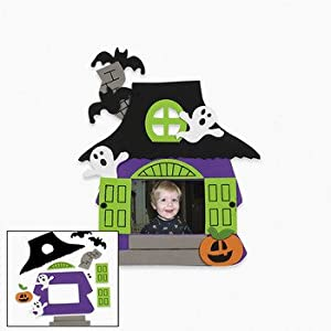Foam Haunted House Photo Frame Magnet Craft Kit - Crafts for Kids & Photo Crafts