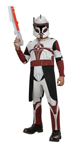 Star Wars Clone Wars Clone Trooper Child's Commander Fox Costume, Medium