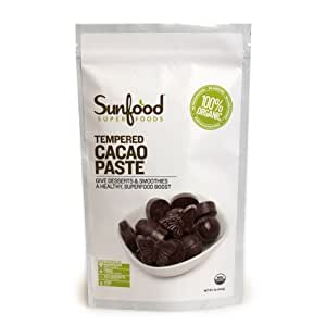 SunFood Organic Tempered Cacao Paste -- 1 lb