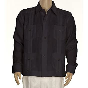 Boys linen guayabera shirt in black. Final sale