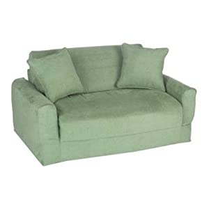 Prices fun furnishings sofa sleeper green micro suede embenhatoi Sleeper sofa prices