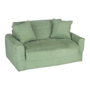 Prices fun furnishings sofa sleeper green micro suede embenhatoi Sleeper sofa prices