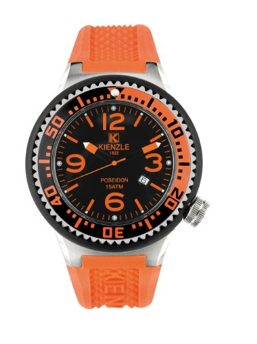 Kienzle - 720/3068 - Montre Homme - Quartz Analogique - Bracelet Silicone Orange