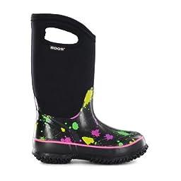 Bogs Classic High Paint Splat Waterproof Insulated Rain Boot (Toddler/Little Kid/Big Kid), Pink,8 M US Toddler