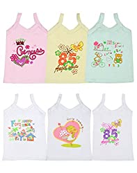 Gumber Pack of 6 Multicoloured Sleeveless Vests (GE_SMJ_COL_W_75_6pc-10-11Y)