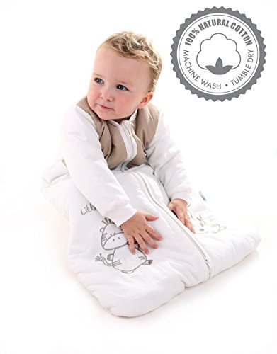 Winter Baby Sleeping Bag Long Sleeves 2.5 Tog - Cartoon Animal - 12-36 months/43inch