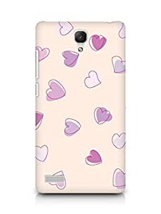 Amez designer printed 3d premium high quality back case cover for Xiaomi Redmi Note Prime (Cute Heart Pattern)