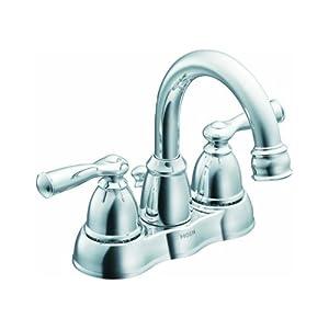 Moen Lavatory Faucet Low Lead Two Handle H Arc Spout Banbury 1 5 Gpm 4 Center
