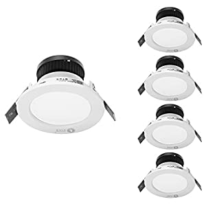 LE 4W 3-Inch LED Recessed Ceiling Lights, 30W Halogen Bulb Equivalent, Warm White, Recessed Light, Downlight, Pack of 4 Units from Lighting EVER