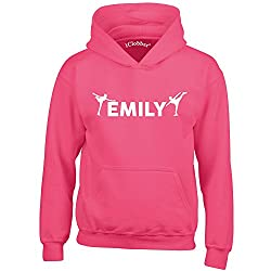 iClobber Ice Skating Hoodie for Girls Kids Personalised with Your Name or Club Name Skating Design
