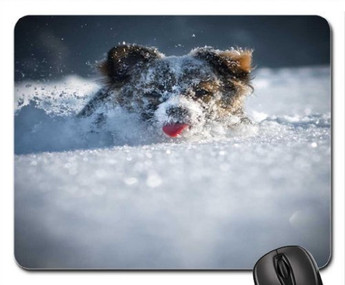 Snow Plow Mouse Pad, Mousepad (Dogs Mouse Pad)