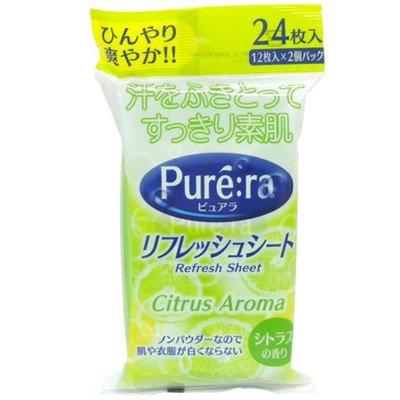 リフレッシュシート ピュアラ シトラスの香り 12枚入×2個パック