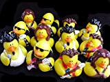 41QXiilqeyL. SL160  Lot of  ROCK STAR Band Rubber Ducky Ducks Party Favors