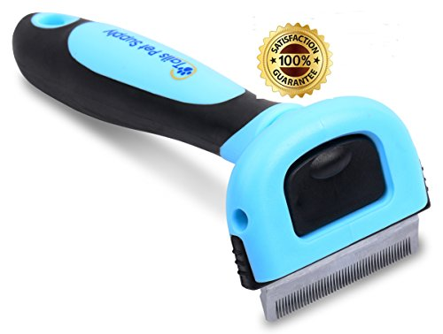 Pet Deshedding Brush for Dogs and Cats – Reduce Shedding up to 90% -Veterinarian and Groomer Recommended image