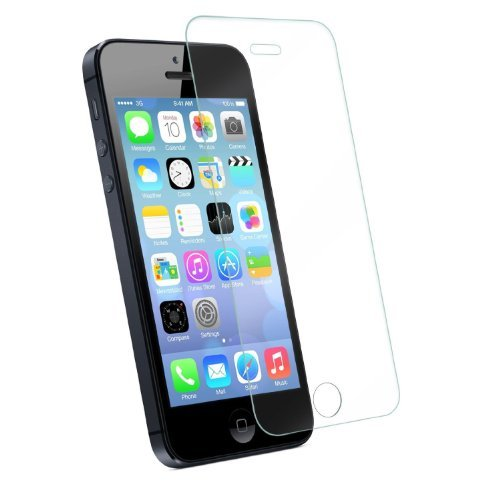 For Iphone 5/5s/5c, Tempered Glass HD Clear Screen Protector , High Quality Perfect Premium Protector for Apple Iphone (Iphone 5/5s/5c)