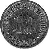 10 Pfennig Imperio Alemán, 1900 A (Jäger: 13) MBC