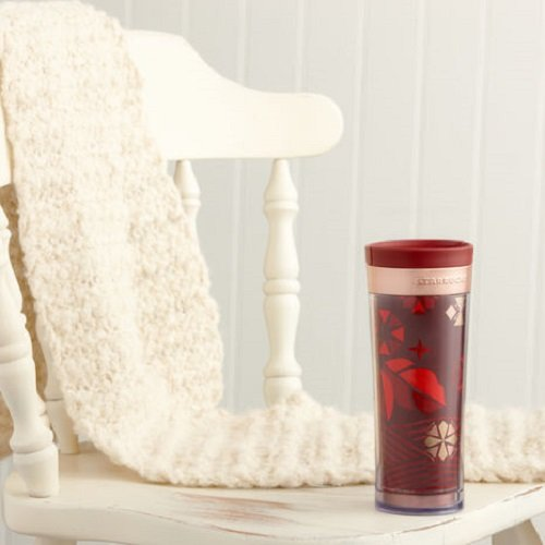 Starbucks 2013 Bella Holiday Tumbler - Red, 12 Fl Oz