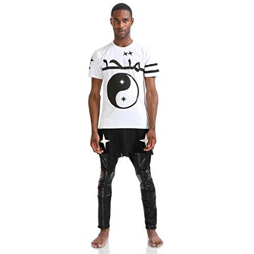 Pizoff -  T-shirt - Maniche corte  - Uomo K4104-White XX-Large