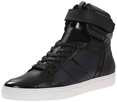 HUGO by Hugo Boss Men's Fuster Mid Fashion Sneaker, Dark Blue, 9 M US