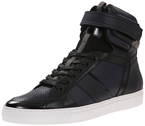 B00QTQ3MYK HUGO by Hugo Boss Men's Fuster Mid Fashion Sneaker, Dark Blue, 9 M US