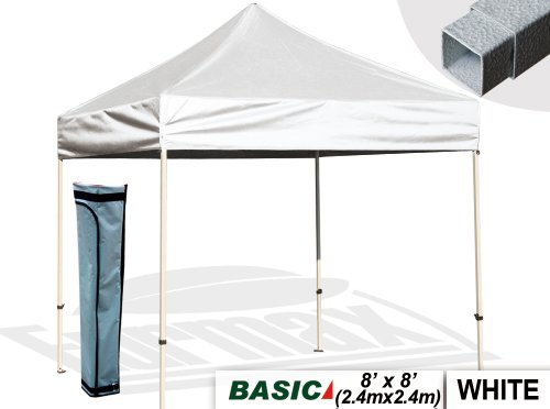 Eurmax 8 X 8 Pop Up Canopy Party Tent Outdoor Patio Instant Canopy With Deluxe Carry Bag (White) front-788078