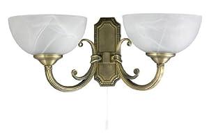 Art Nouveau Style Twin Lamp Wall Light Bronze 1/1/793