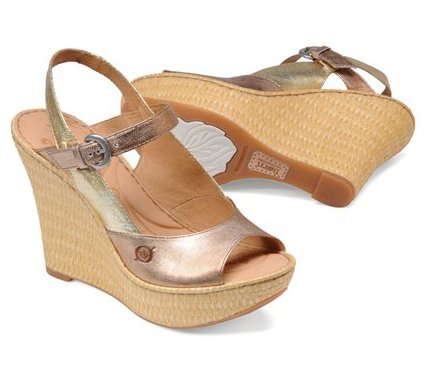 Born Women's Mina Mandorla Metallic 10 M US