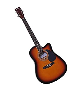 SG Musical Acoustic Guitar w/cut SunBurst available at Amazon for Rs.9080
