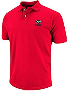 Georgia Bulldogs Mens Slim Fit Ridge Casual Polo Shirt by Chiliwear by Chiliwear LLC