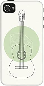 DailyObjects White Guitar Case For iPhone 4/4S