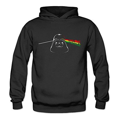 Geek Darth Pink Vader Star Floyd Wars Women's Hoodie Sweater Black Size M