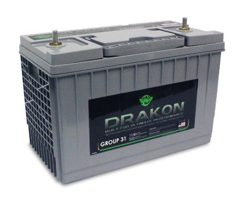 Drakon 40882 Gray/Blue 'Group 31' High Performance Pure Lead AGM Battery