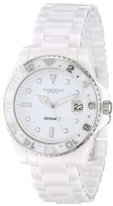 Akribos XXIV Women's AK519WT Ceramic Oversized Bold Watch