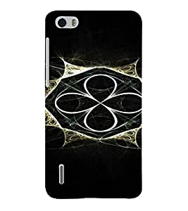 PrintVisa Modern Art Design 3D Hard Polycarbonate Designer Back Case Cover for Huawei Honor 6