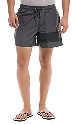 Prym Men's Polyester Shorts (8907423002562_2011517301_30_Grey)