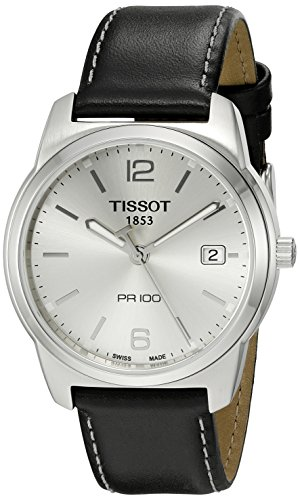 Tissot Men's T0494101603701 PR 100 Silver Dial Black Strap Watch