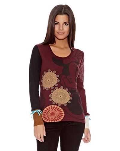 Desigual Pullover Minnie [Rosso Scuro]